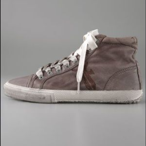Frye Kira Branded Distressed High Top Sneaker 6.5